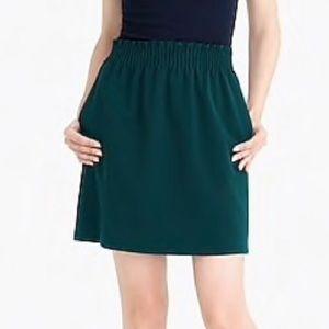 J. Crew sidewalk skirt NWT Hunter green sz 6